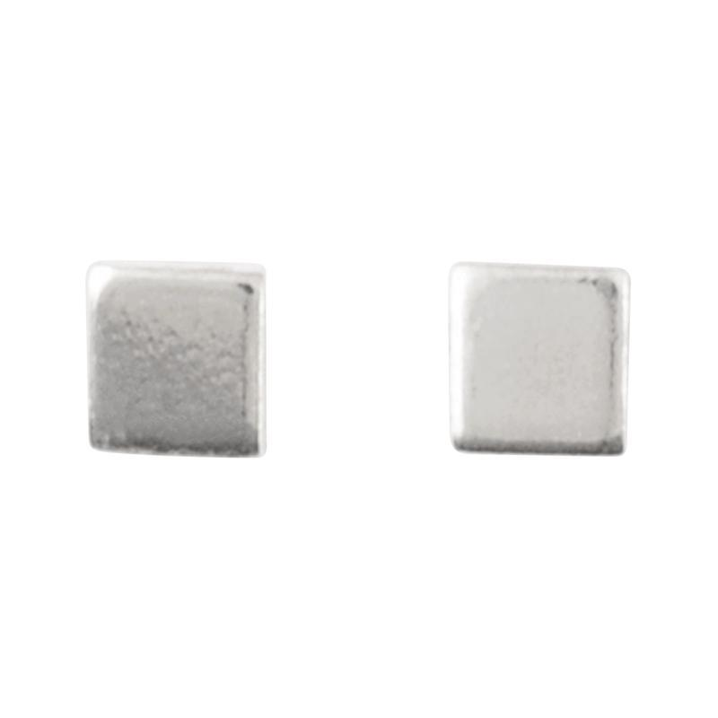 Minimalist Jewelry-Simple Earring Stud-3mm Square