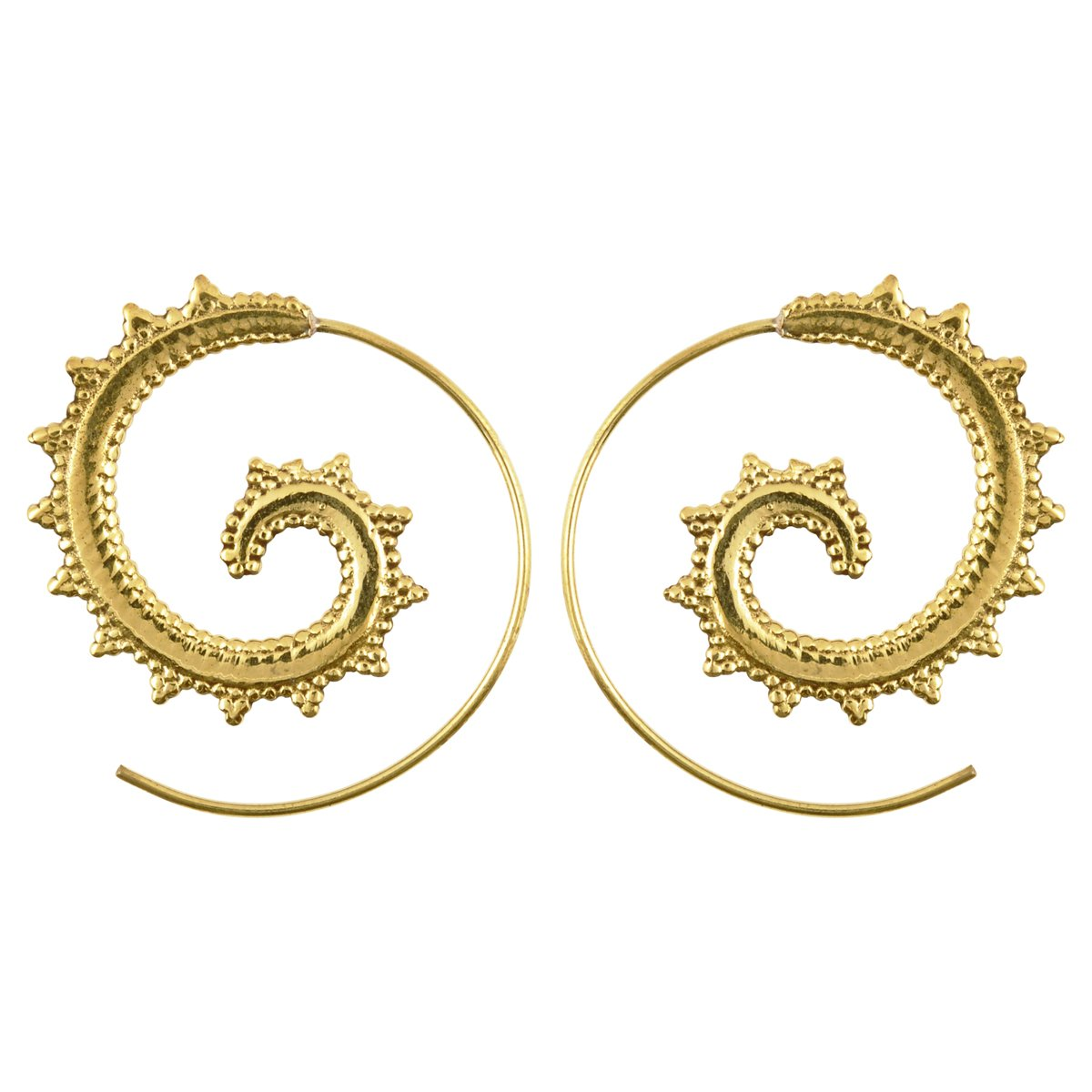 Finished Jewelry-Simple-Brass Victorian Gold Spiral Earrings