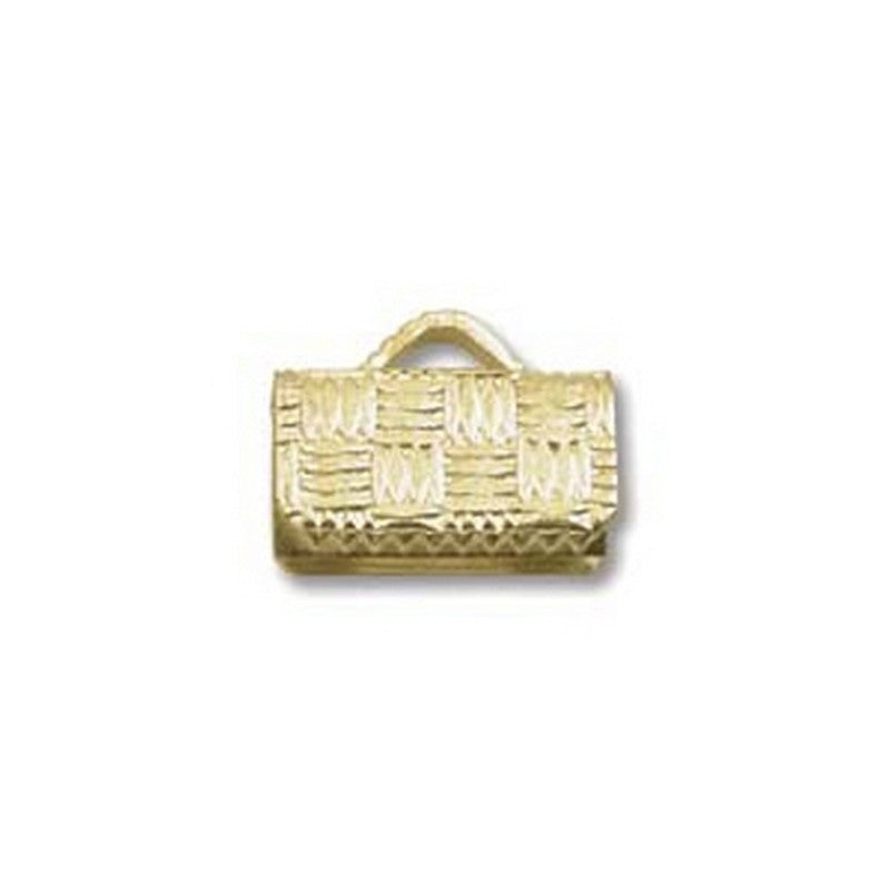Findings-10mm Flat Crimp End-Gold Plate-Quantity 24