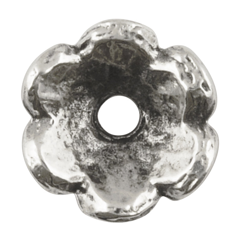 Findings-15mm Scalloped Bead Cap-Antique Silver-Quantity 1
