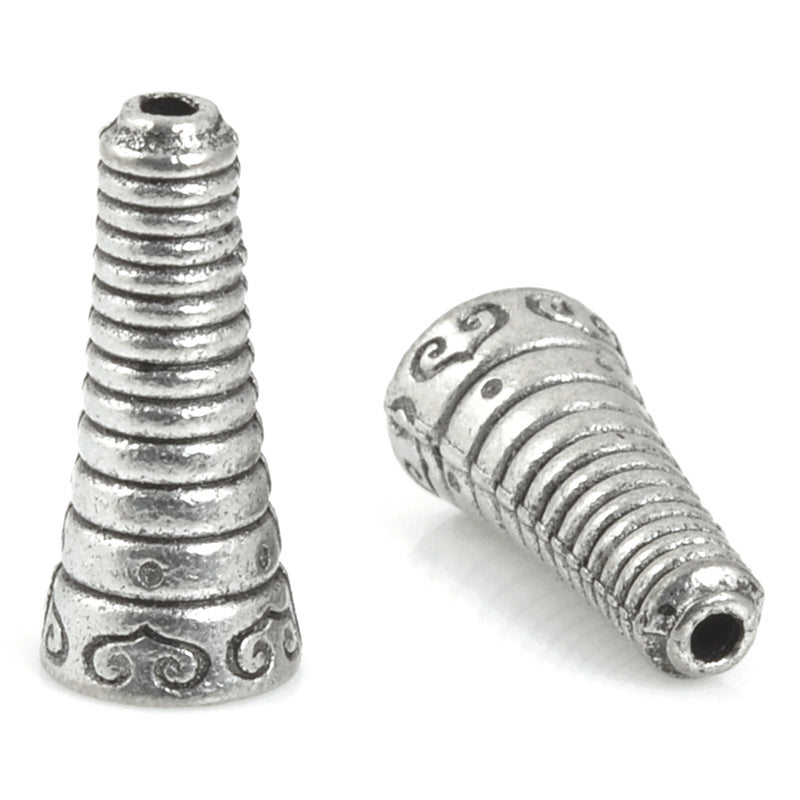 Findings-16mm Bolo Cone Bead Cap-Antique Silver-Quantity 1