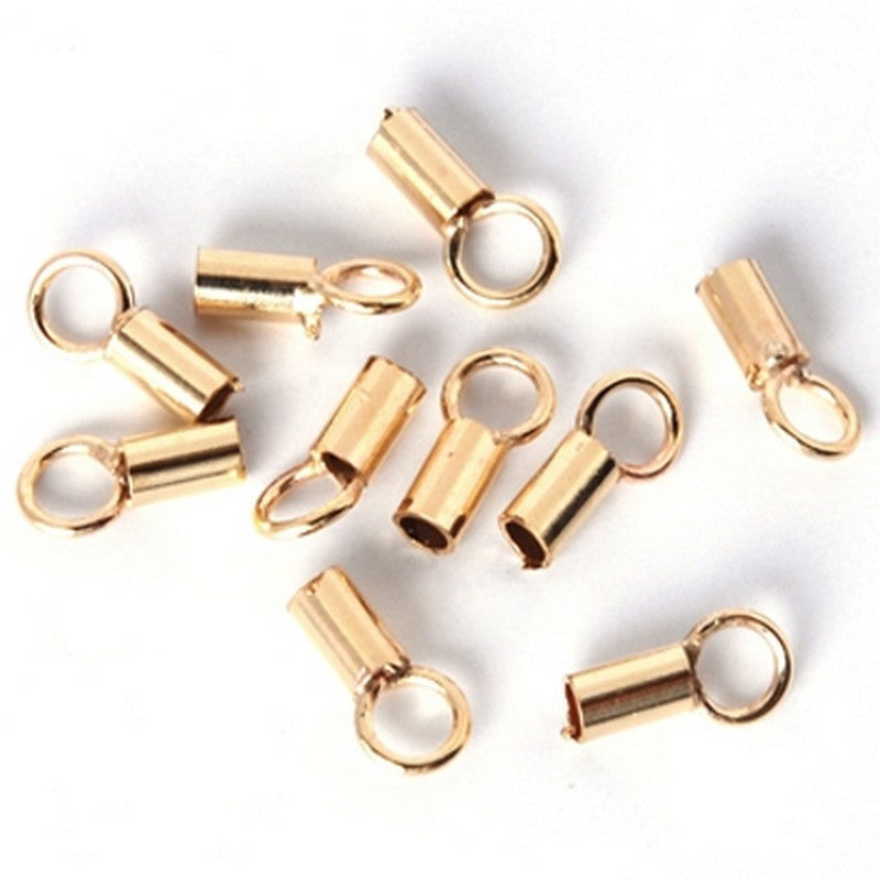 Findings-1mm End Cap With Ring-(Fits Our 1mm Cord)-Quantity 10