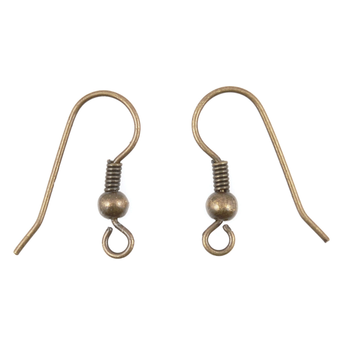 Findings-20mm French Ear Wire-Bronze-Quantity 6 (3 Pairs)