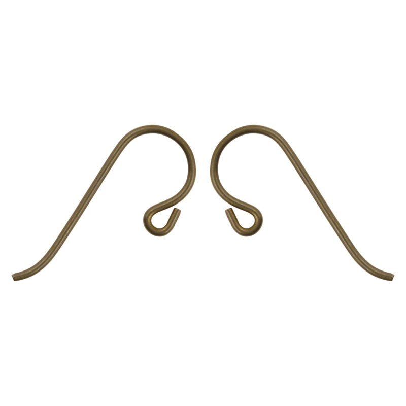 Findings-20mm French Hook Ear Wire-Niobium Anodized Brass-Quantity 2 (1 Pair)