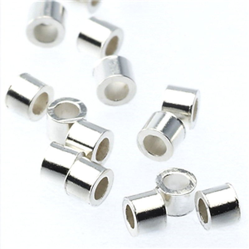 Findings-2mm Crimp-Silver Plate