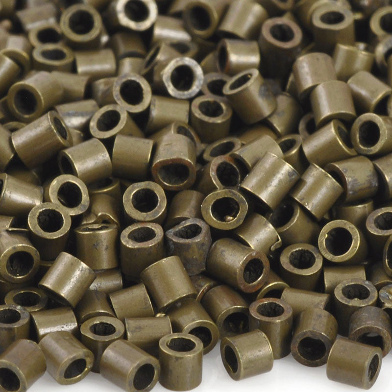 Vintaj-Natural Brass Findings-2mm Crimp Tube-Antique Brass-Quantity 100