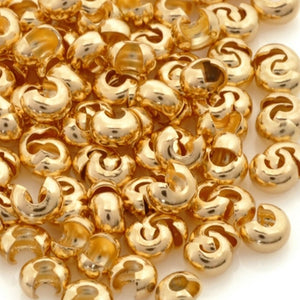 Findings-3mm Crimp Cover-Gold-Quantity 144