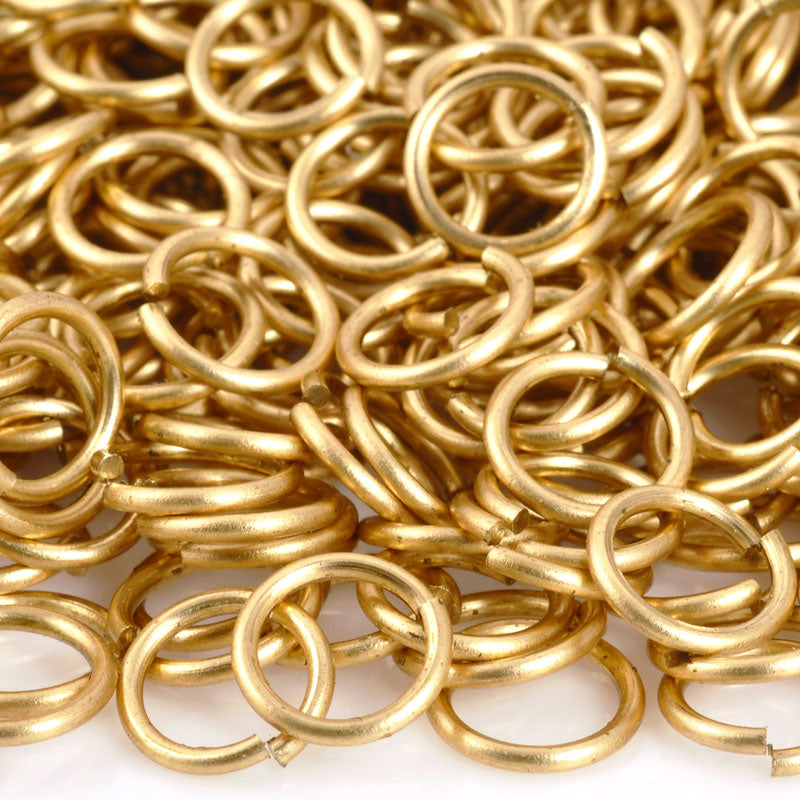 Findings-6mm Round Jump Ring-18 Gauge-Open-Raw Brass
