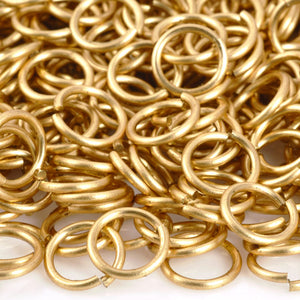 Findings-8mm Round Jump Ring-18 Gauge-Open-Raw Brass