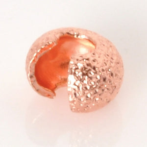 Findings-4mm Stardust Crimp Cover-Copper-Quantity 144