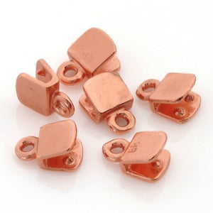Findings-5mm Flat Crimp End-Copper-Quantity 6