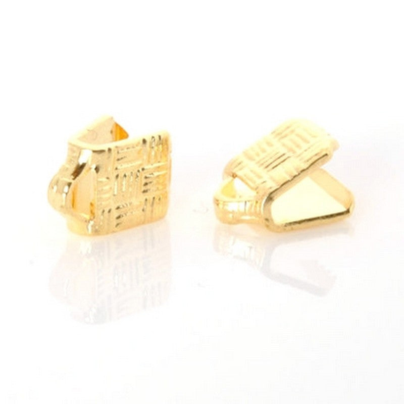 Findings-5mm Flat Crimp End-Gold Plate-Quantity 24