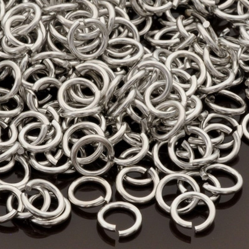 Findings-5mm Round Jump-Ring-18 Gauge-Antique Silver-Quantity 24