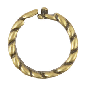 Findings-6mm Twisted Round Locking Jump Rings-13 Gauge-Antique Bronze