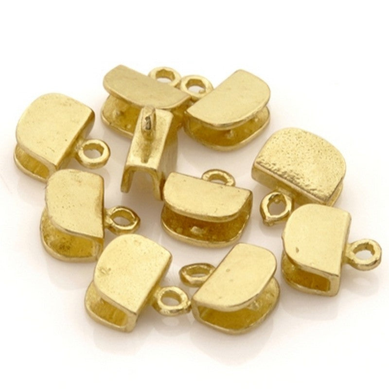 Findings-8mm Brass-Flat Crimp End