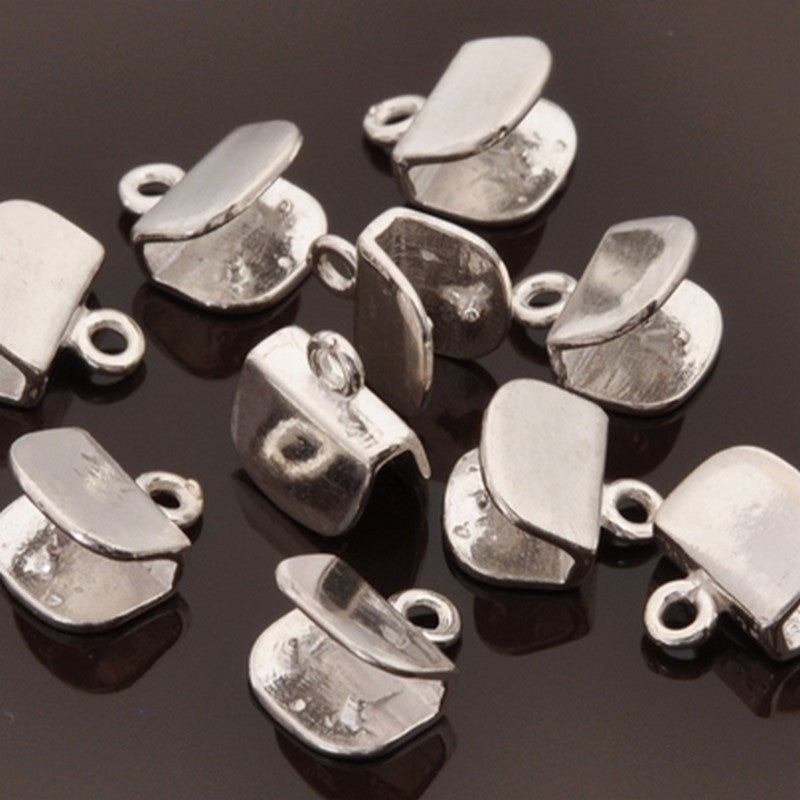 Findings-8mm Flat Crimp End-Sterling Silver-Quantity 2