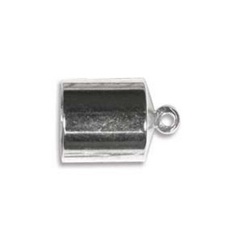 Findings-8mm Silver End Cap-Fits 8mm Cord-Sold Separately