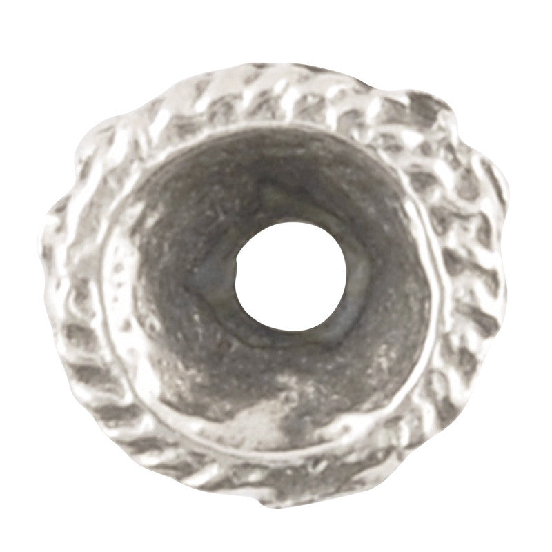 Findings-9mm Granular Bead Cap-Antique Silver