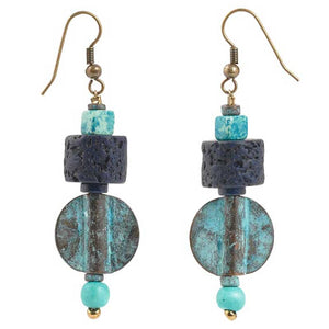 Finished Jewelry-Viridian Vibrance Earrings Set