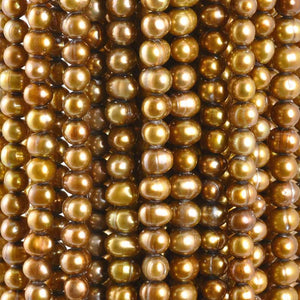 Freshwater Pearl-4mm Freshwater-Bronze Gold