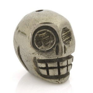 Gemstone-15x12mm Pyrite Skull-Quantity 1