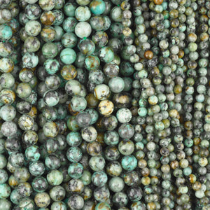 Gemstone-4mm Round-African Turquoise