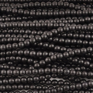 Gemstone-8mm Round-Black-Howlite-15.5 Inch Strand