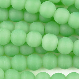 Gemstone Beads-12mm Matte Green