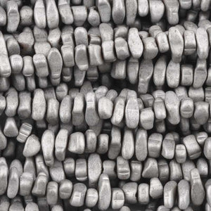 Gemstone Beads-3x5-10mm Titanium Hematite Chip-Matte Silver