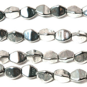 Glass-3mm Pinch Bead-Silver-Czech-Quantity 50