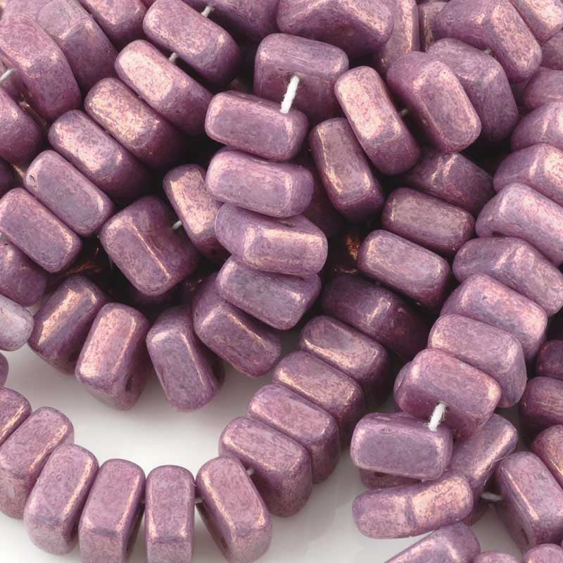 Glass-6mm Chexx 2-Hole-Luminous Purple-Czech