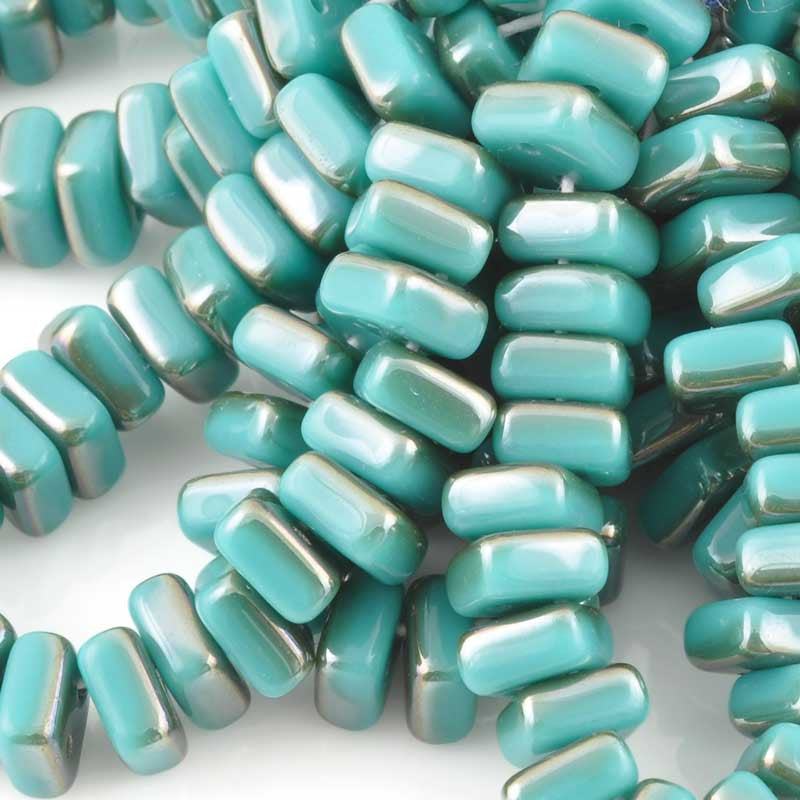 Glass-6mm Chexx 2-Hole-Turquoise Celsian-Czech