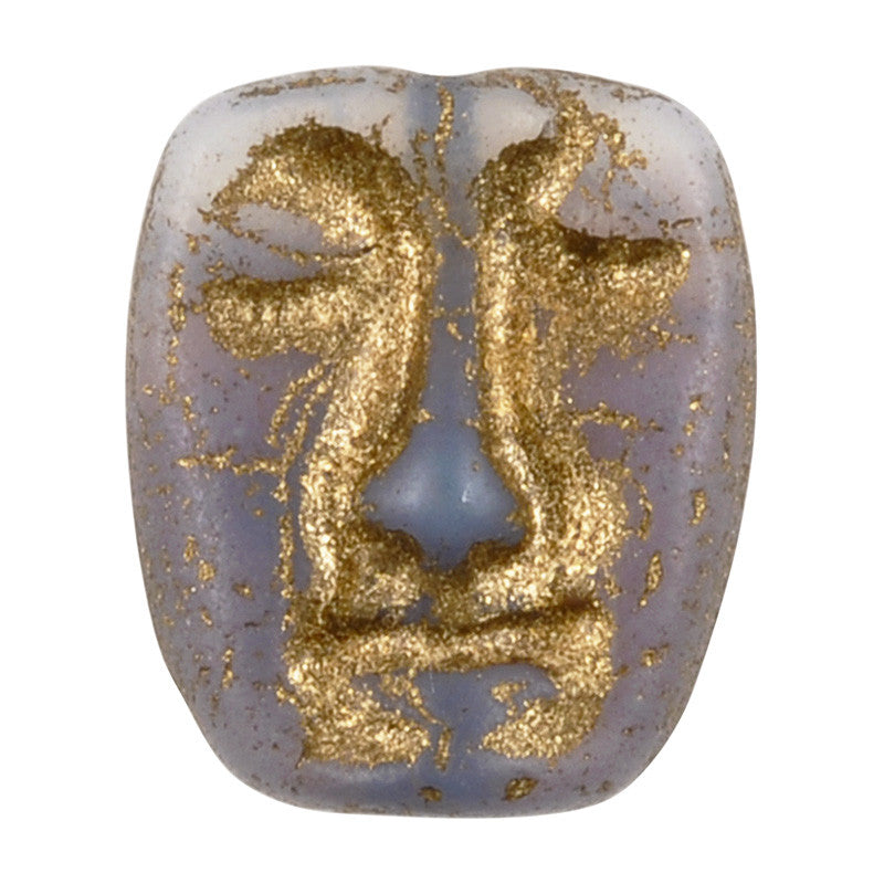 Glass Beads-13x11mm Dramatic Face Mask-Vintage Matte Mix-Czech