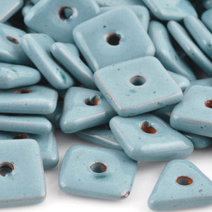 Ceramic Beads-14mm Abstract-Stone Blue