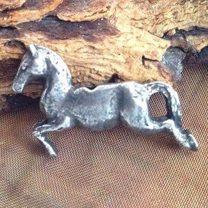 Green Girl Studios-20x28mm Pewter Beads-Jumping Pony