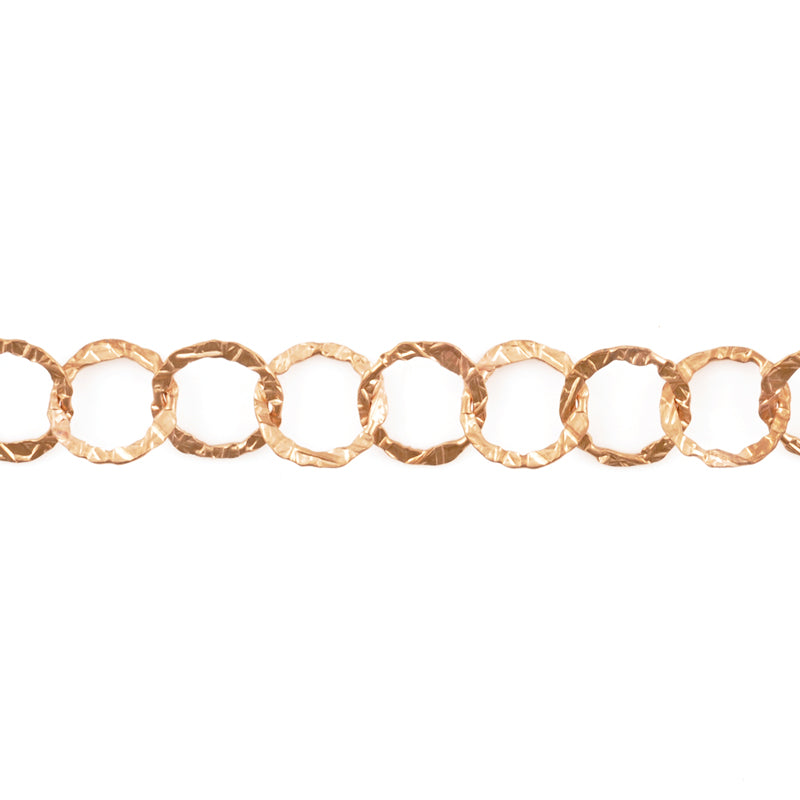 Jewelry Chain-11mm Flat Patterned Cable-Bronze