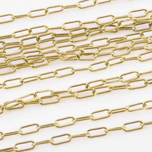 Jewelry Chain-2x6mm Brass Cable-Antique Gold