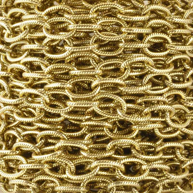 Jewelry Chain-9x5mm Brass Cable-Antique Gold