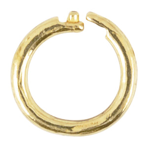 Findings-6mm Round Locking Jump Rings-17 Gauge-Brass