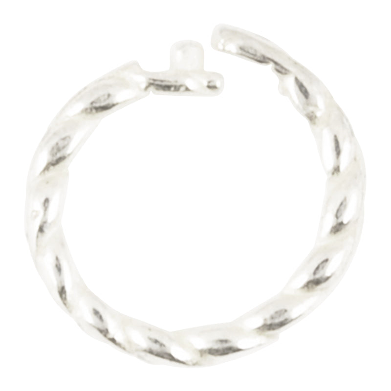 7cac8c1ad8ad3 Findings-6mm Twisted Round Locking Jump Rings-13 Gauge-Sterling  Silver-Quantity 2