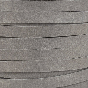 Leather-3mm Deerskin Lace-1/8 Inch-Charcoal