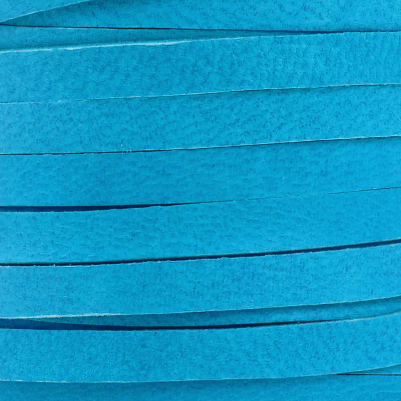 Leather-3mm Deerskin Lace-1/8 Inch-Dark Turquoise