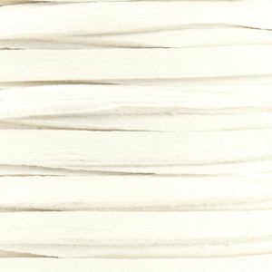 Leather-3mm Deerskin Lace-1/8 Inch-White