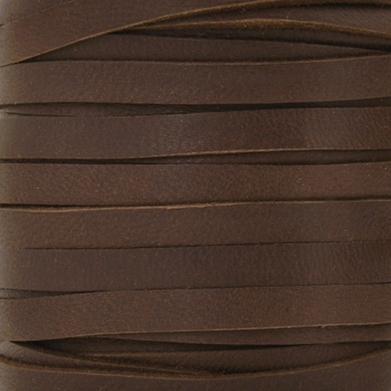 Leather-3mm Deerskin Lace-Chocolate