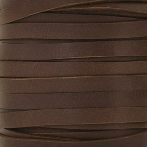 Leather-5mm Deertan Lace-Chocolate