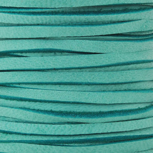 Leather-3mm Deerskin Lace-Turquoise