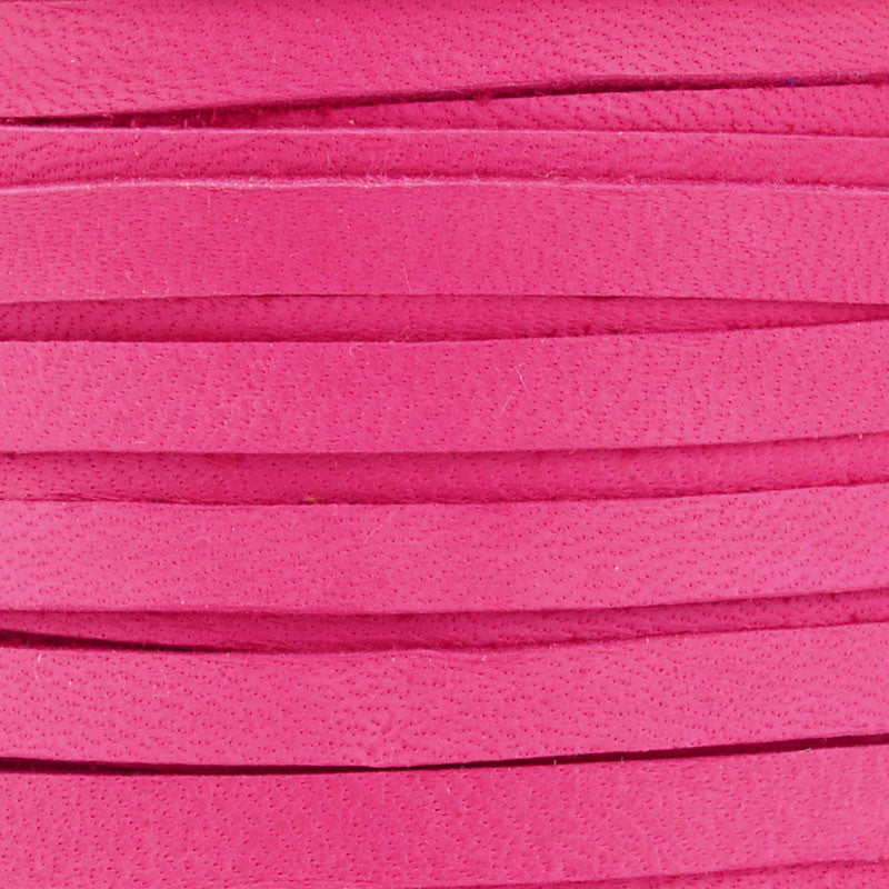 Leather-5mm Deerskin Lace-Fuchsia
