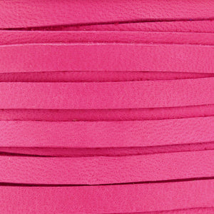 Leather-3mm Deerskin Lace-Fuchsia