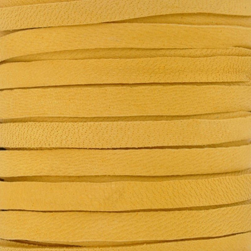 Leather-5mm Deerskin Lace-Gold