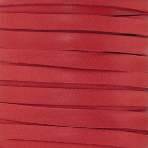 Leather-5mm Deerskin Lace-Red